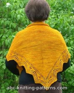 Trellis Border Garter Stitch Lace Shawl
