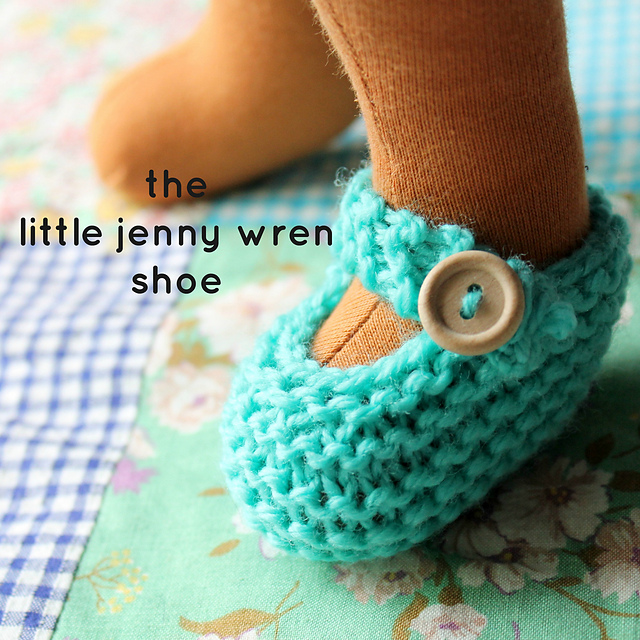 Knitting Patterns Galore - The Little Jenny Wren Shoe