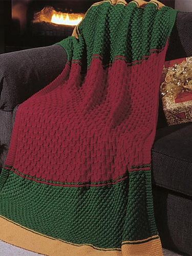 Knitting Patterns Galore Candlelight Christmas Afghan