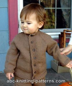 Easy Cable Seamless Child's Cardigan