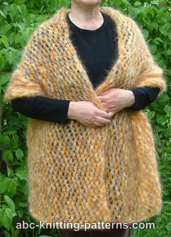 Knitting patterns galore cozy mohair wrap cozy mohair wrap free knitting pattern cozy mohair wrap dt1010fo