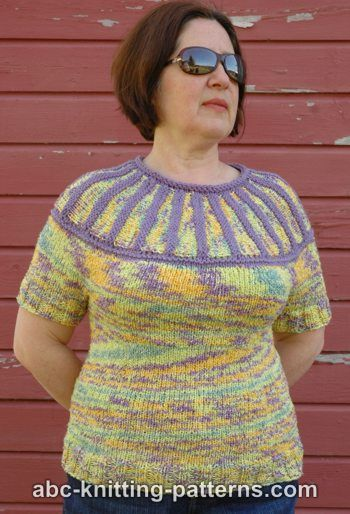 Knitting Patterns Galore Round Yoke Summer Sweater