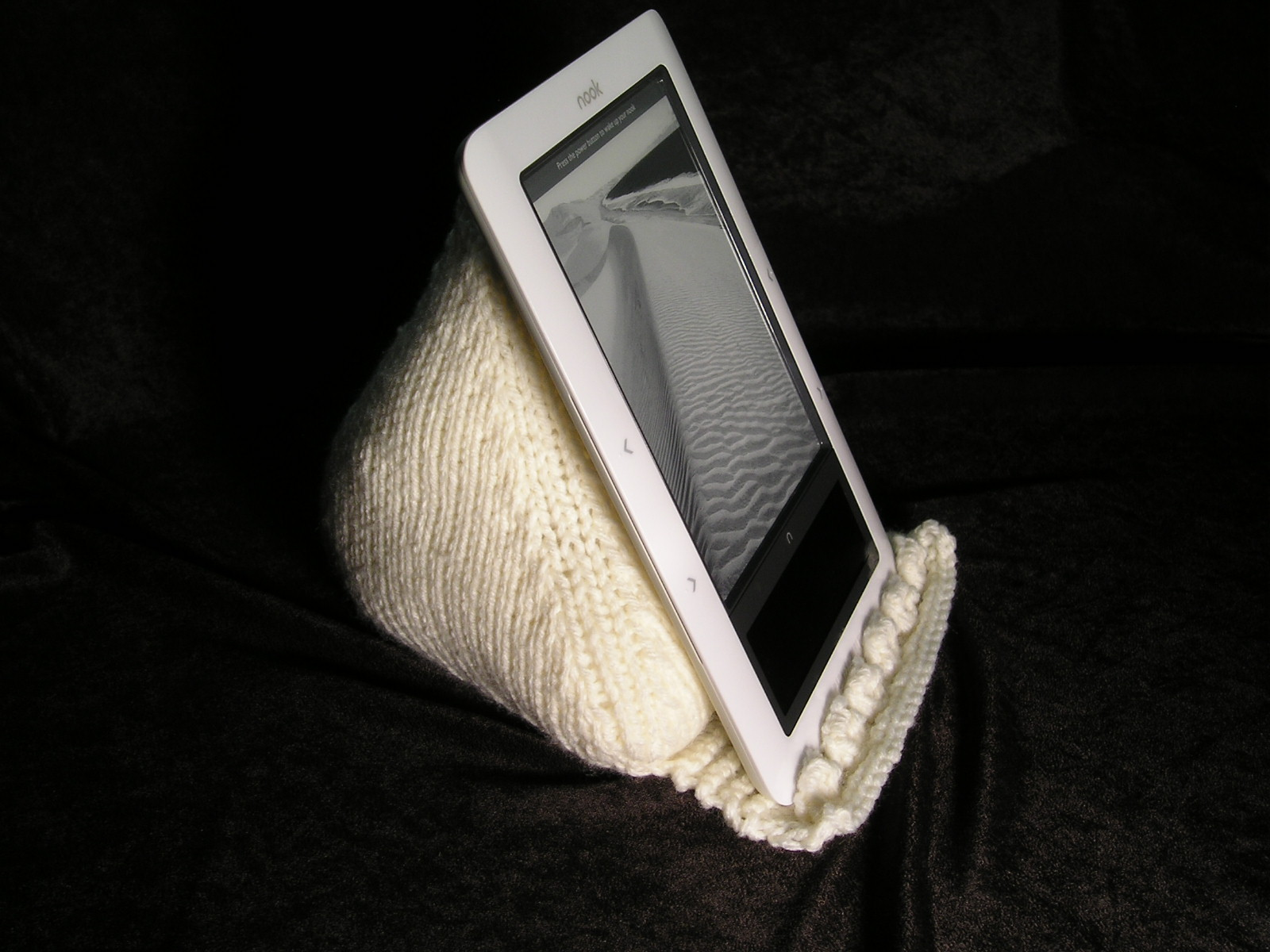 Knitting Patterns Galore Ereader Pillow Prop