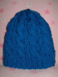 6cf59dbe4ca 3AM Cable Hat Free Knitting Pattern. 3AM Cable Hat