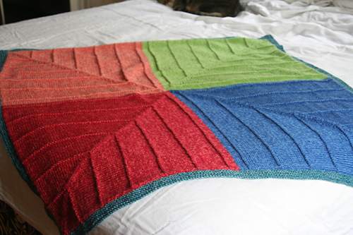 Knitting Patterns Galore Four Corners Baby Blanket