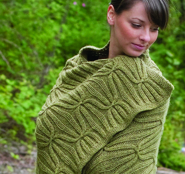 Knitting Patterns Galore - Quilt and Cable Blanket