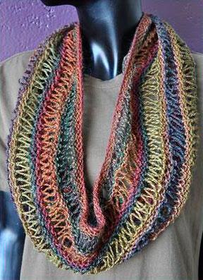 Knitting Patterns Galore - Drop Stitch Cowl