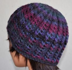 Roll Brim Lacy Ribbed Hat