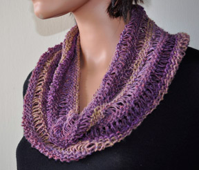 Knitting Patterns Galore Drop Stitch Cowl