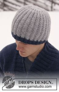 Knitted DROPS Men's Hat