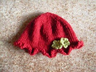 Knitting Patterns Galore Ruffled Baby Hat