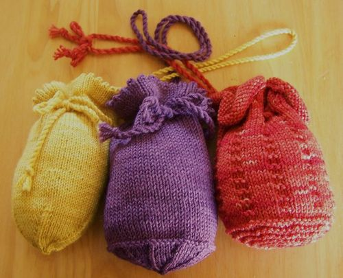 Knitting Pattern For A String Bag : Knitting Patterns Galore - Ditty Bags