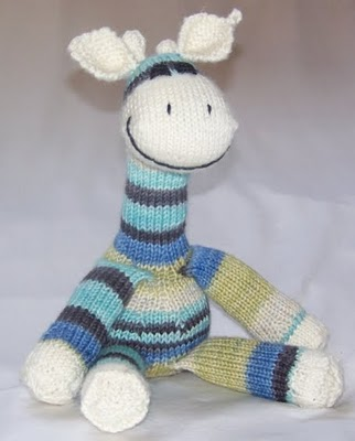 Sock Giraffe Knitting Pattern