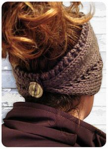 Center Row Lace Headband / Neck Warmer