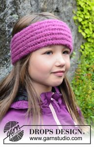 Pretty in Pink - Head Band with English Rib