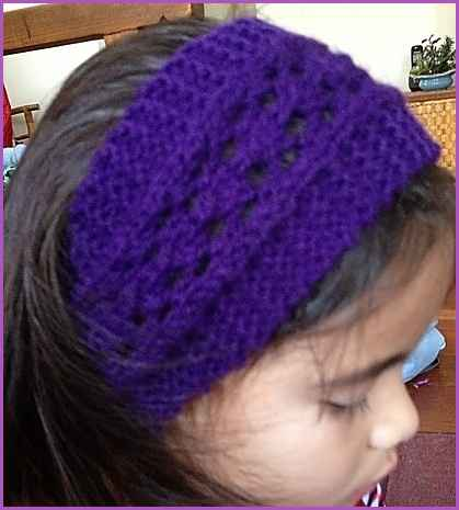 Simple Knit Headband Pattern : Knitting Patterns Galore - Easy Lacy Headband