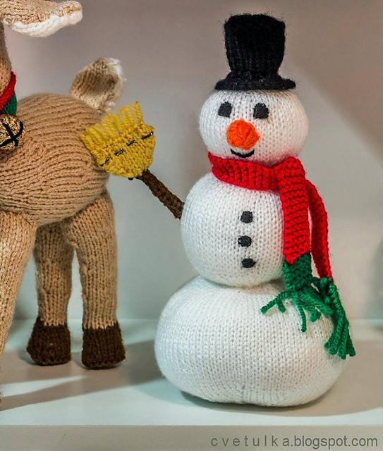 Knitting Patterns Galore Frosty Snowman