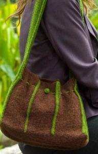 Felted Tuck Purse