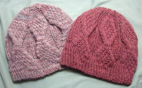 Knitting Patterns Galore - Mock Aran Mens Hat