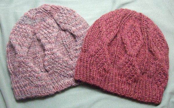Knitting Patterns Galore - Mock Aran Mens Hat
