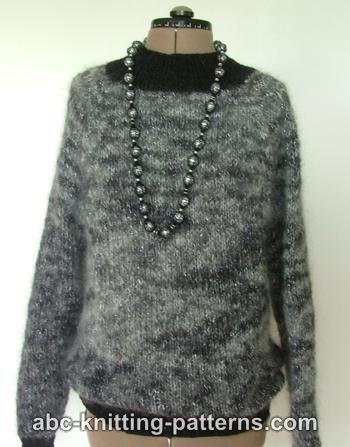 Knitting Patterns Galore Circular Knit Mohair Sweater