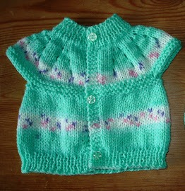 Knitting Patterns Galore - All-In-One Baby Top