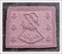 Little Garden Girl Dishcloth