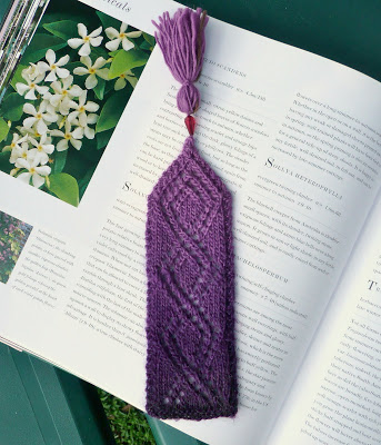 Knitting Patterns Galore Trellis Lace Bookmark