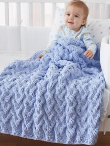 Shadow Cable Baby Blanket