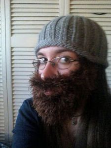 A Rather Fun Knitted Beard