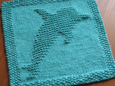 Knitting Patterns Galore - Dolphin Dishcloth