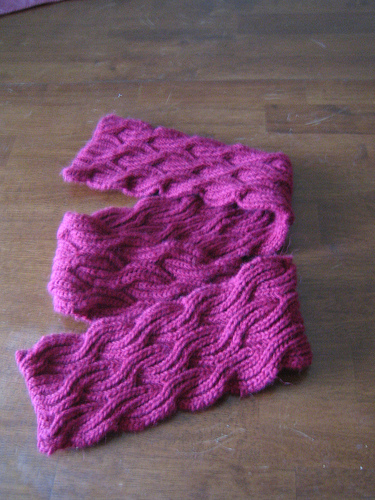 Knitting Patterns Galore Reversible Cabled Brioche Stitch Scarf