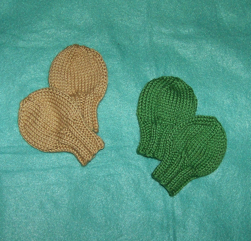Knitting Patterns Galore - No Scratchies Newborn Mitts