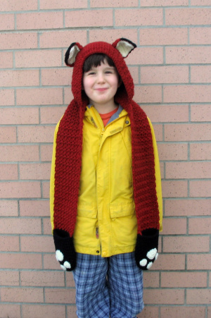 Knitting Patterns Galore Fox Scoodie With Pockets