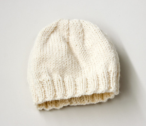 Knitting Patterns Galore - Childs Simple Knit Hat