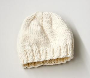 Knitting Pattern Childs Hat : Knitting Patterns Galore - Childs Simple Knit Hat
