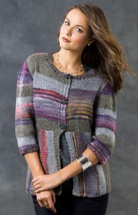 Knitting Patterns Galore Magical Stripes Cardi