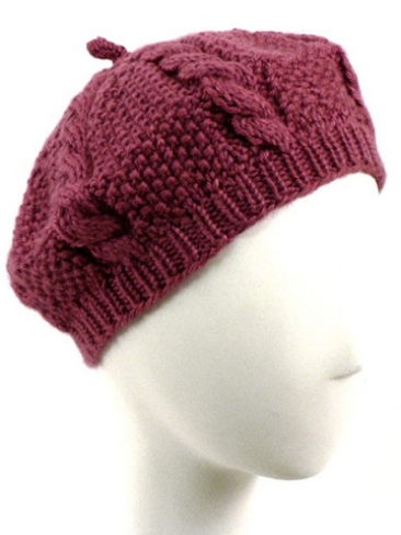 Knitting Patterns Galore Cabled Beret