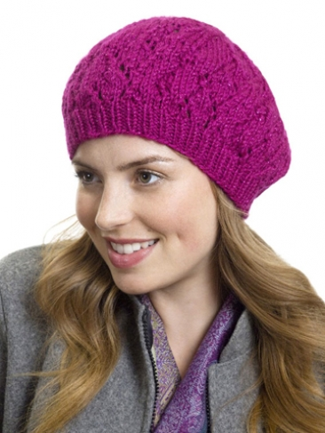 Free Knitting Patterns Berets Easy : Knitting Patterns Galore - Raspberry Beret