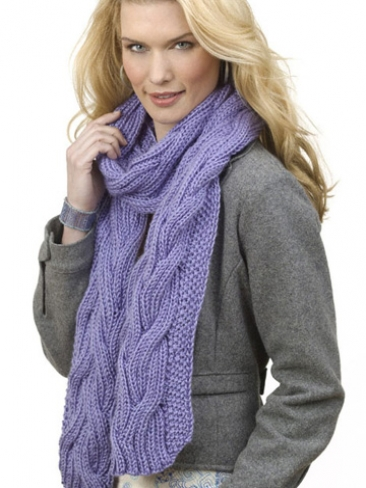 Knitting Patterns Galore Reversible Cable Rib Scarf