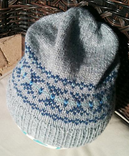 Knitting Patterns Galore - Destashification Fair Isle Slouch Hat