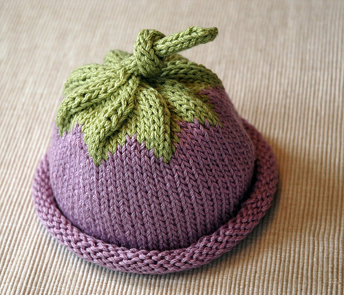 Knitting Patterns Galore - Berry Baby Hat