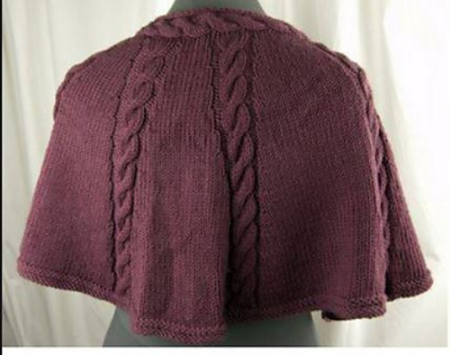 Knitting Patterns For Capelets Free : Knitting Patterns Galore - Longwood Capelet