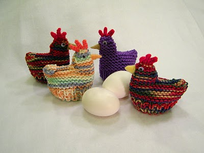 Knitting Patterns Galore Chicken And Duck Egg Cozies Easter