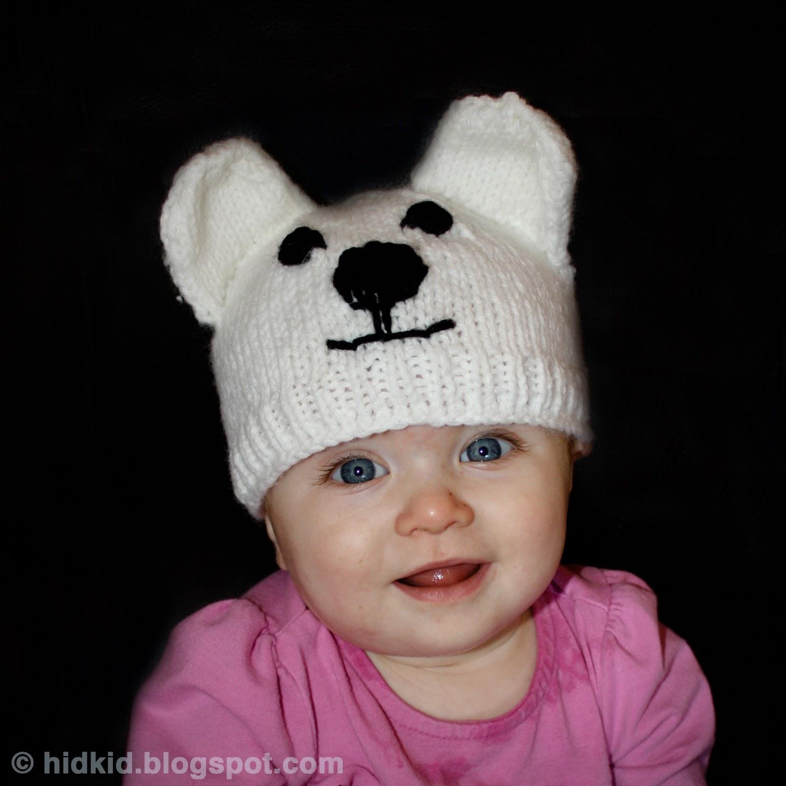 Knitting Patterns Galore - Polar Bear Knit Hat