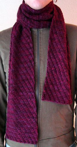 Knitting Patterns Galore - Tipsy Rib Scarf