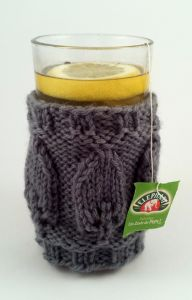 Knitted Leaves Hot Toddy Cozy