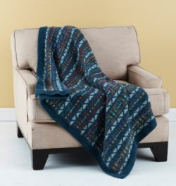 Colorful Fair Isle Throw