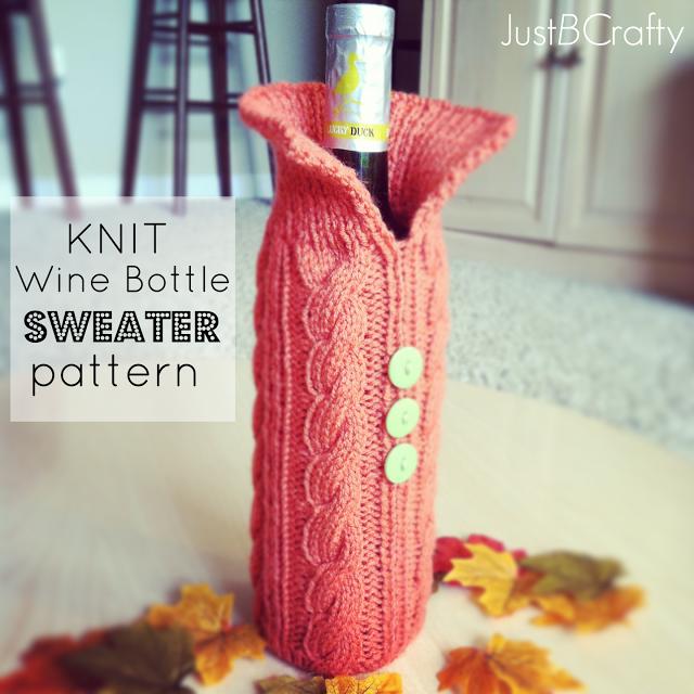 Knitting Patterns Galore Knit Wine Bottle Sweater