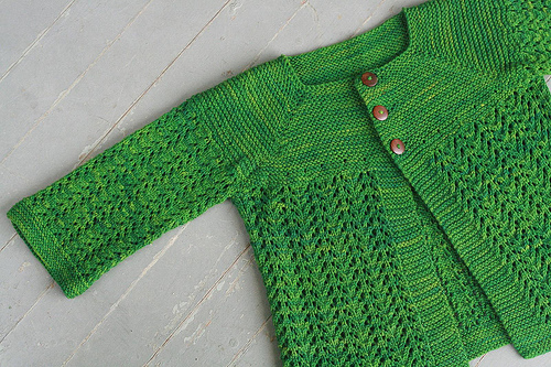 Free Knitting Pattern For A Gilet : Knitting Patterns Galore - February Lady Sweater